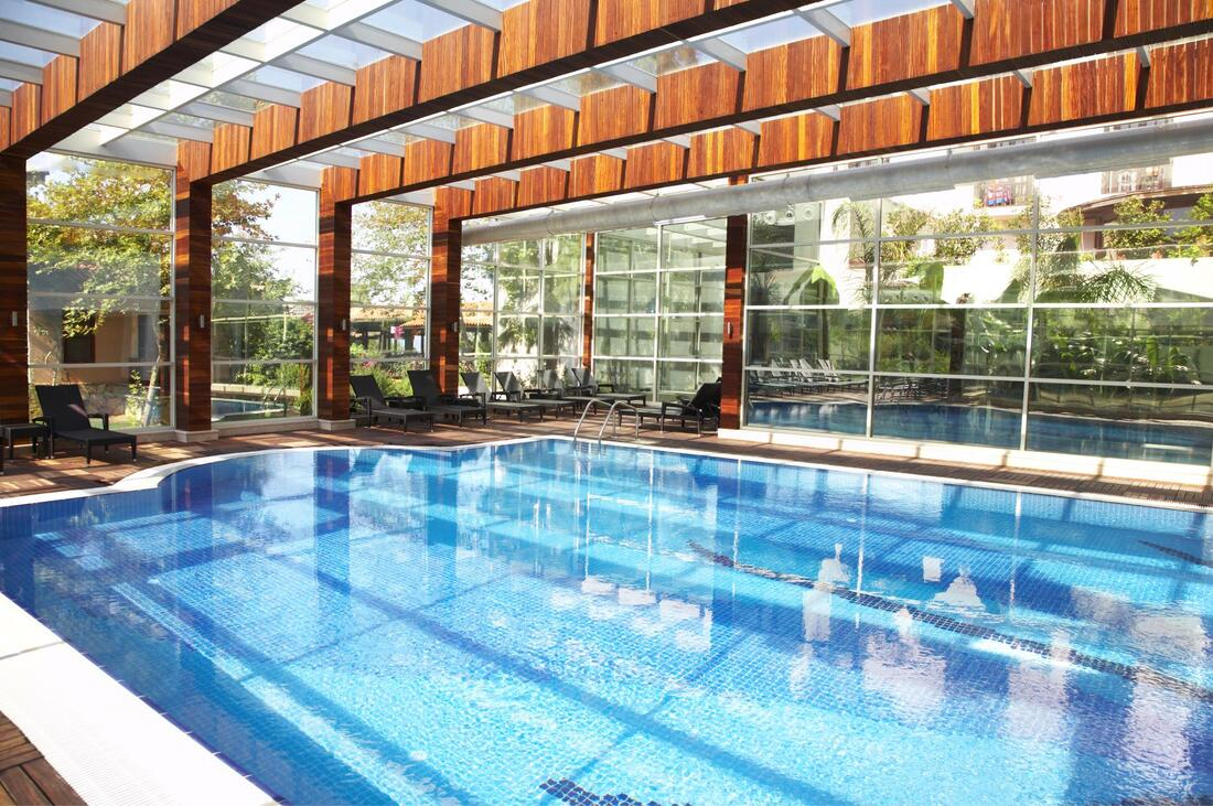 commercial indoor pool after cleaning