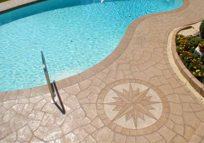 close up to a pool after repair