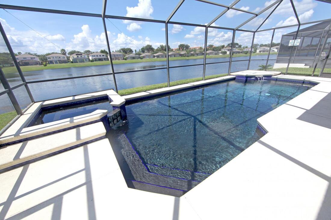 functioning indoor pool after repair