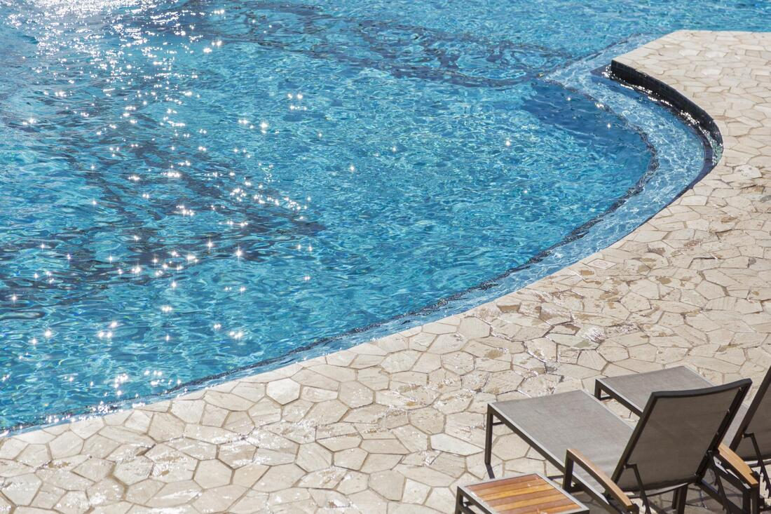 salt water pool after cleaning
